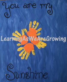 Learning As We Grow: Mothers Day - Sunshine Handprints