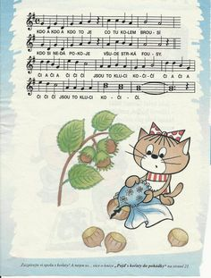 kdo a kdo to je - kočičí písnička My Cup Of Tea, Exercise For Kids, Kids Songs, Music Notes, Worksheets, Chibi, Piano, Diy And Crafts, Preschool