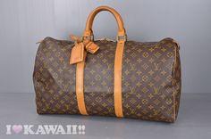 Authentic Louis Vuitton Monogram Keepall 50 Malletier Travel Bag M41416