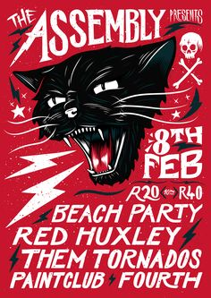 Black Cat Rock Poster by Ian Jepson, via Behance