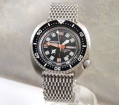 Seiko Turtle Manta Ray Dome SharkMesh Automatic Day/Date Diver's Watch 6309-7040