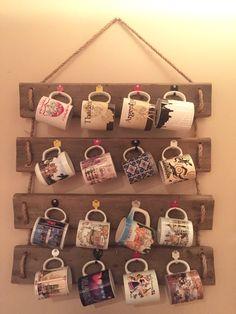 Wood mugs holder