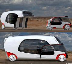 Solent RV Concept - Camping Car. Solent RV Concept amazing! Solar Powered Hybrid Electric Camper with Car.
