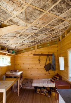 birch bark ceiling