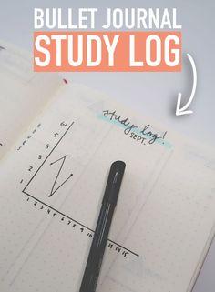 Bullet Journal STUDY LOG: Under 10 Minute Spreads! @Caitlin's Corner