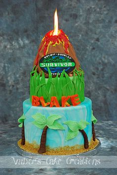 Survivor cake by Amber's Cake Creations
