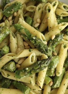 Penne with Asparagus and Lemon Pesto - Green Valley Kitchen
