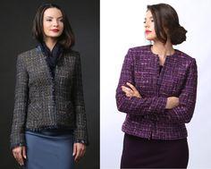 Beautiful warm jackets. Cotton & wool YOKKO | fall 16 #jackets #wool #cotton #colours #women #style #fashion #yokko #madeinromania Warm Jackets, Look Chic, Style Fashion, Your Style, Costume, Colours, Wool, How To Make, Cotton