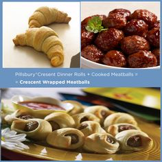 Pillsbury® Crescent Rolls + Cooked Meatballs = Crescent Wrapped Meatballs | 15 Delicious Things You Can Stuff In A CrescentRoll