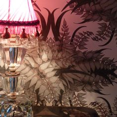 Tooth & Claw fern forest wallpaper in flesh colourway