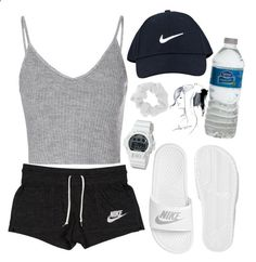 Untitled #140 by avital-zaslavski on Polyvore featuring NIKE, Glamorous, G-Shock, Forever 21 and GE