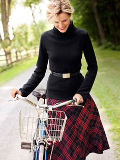This is how I'll wear that old plaid skirt...next fall.