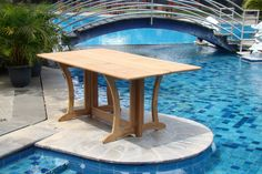 GradeA Teak Wood Luxurious Dining Set Collections: 7 pc  69 Warwick Rectangle Table And 6 Leveb Stacking Arm Chairs