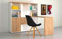 Kombination aus Schreibtisch und Regal - und Ihr Büro ist komplett