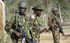 Officer and men of the Kenya Army