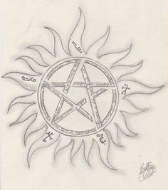 supernatural winchester symbols tattoo - Google Search