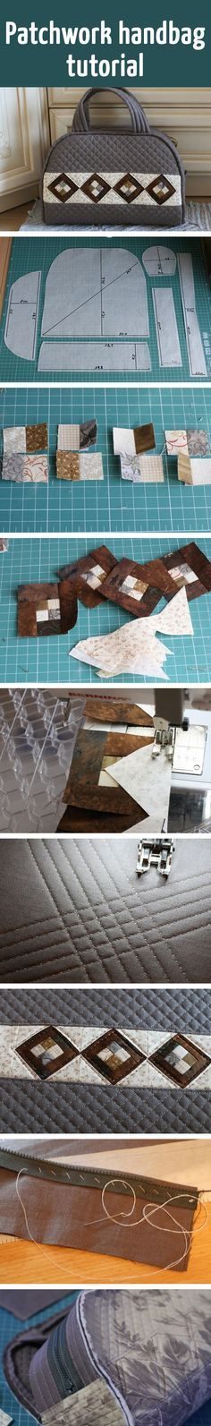 Çanta yapımı Patchwork handbag tutorial