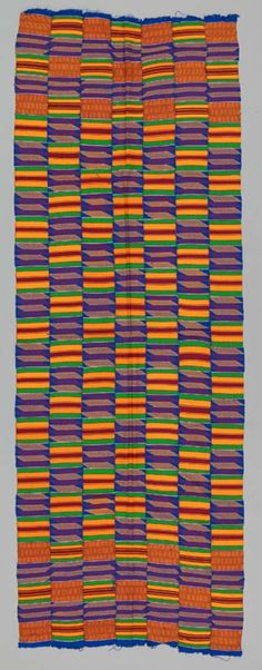 Africa | A Kente Shoulder Cloth from the Asante people of Ghana | ca. 1975 | 192cm x 68cm