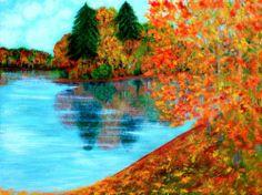 Autumn. Original acrylic painting