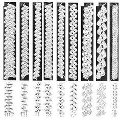 PIZZO MACRAME' RUMENO - POINT LACE : TRINE UNCINETTO (con schemi)