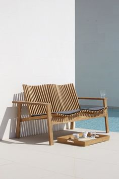 Danish designed sculptural, comfortable new season Cane-line outdoor furniture  available exclusively in far north qld through Island Point Interiors.