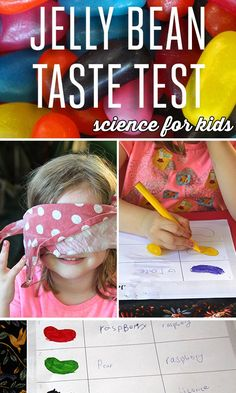 FUN science for kids: Jelly bean taste test experiment. Does our sense of sight really influence our sense of taste?