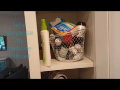 YouTube ORGANIZE WITH ME:medicine cabinet