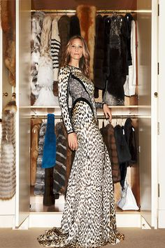 1. Go through each hanging item and items in drawers and take action—donate, alter, sell or purge! If it's a seasonal item, think about storing in another section of your closet so it's not taking up valuable and accessible real estate. Pictured: Stephanie Winston Wolkoff in her closet, Harper's BAZAAR March 2013.   - HarpersBAZAAR.com