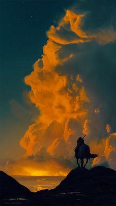 The traveler by AnatoFinnstark on DeviantArt Witcher Art, The Witcher, Love Wallpapers Romantic, Bloodborne Art, Historical Art, Traditional Paintings, Fantasy Landscape, Dark Fantasy Art, Grafik Design