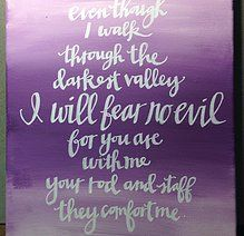 Psalm 23:4 11x14 painted canvas