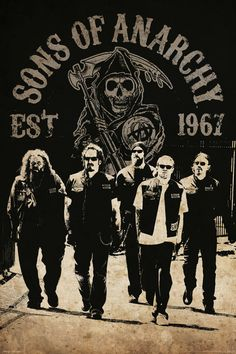 """Sons Of Anarchy Reaper Crew TV Show 24 x 36"""" Poster"""