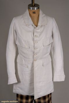 COTTON-LINEN COAT, AMERICA, c. 1850