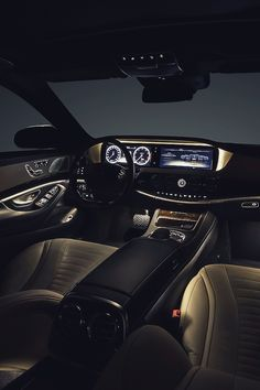 Mercedes Benz S Class interior it's nothing like the inside of a luxury car it looks like it makes you feel as though you are in your own private little luxurious sanctuary!!!