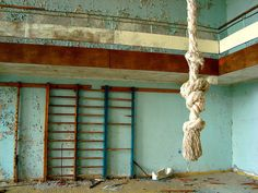 Gymnasium.     Pripyat (Ukrainian: При́п'ять, Pryp'iat'; Russian: При́пять, Pripyat') is a ghost town near the Chernobyl Nuclear Power Plant in the Kiev Oblast (province) of northern Ukraine, near the border with Belarus. Pripyat was founded in 1970 to house workers for the Chernobyl Nuclear Power Plant. It was officially proclaimed a city in 1979 but was abandoned in 1986 following the Chernobyl disaster.