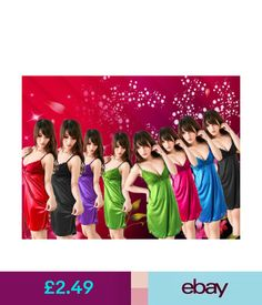 Lingerie & Nightwear Ladies Satin Lingerie Sleepwear Night Gown Babydoll Dress Nightie Robe #ebay #Fashion
