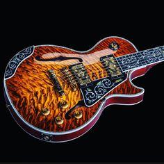 Brand New Gibson Les Paul Custom Quilt Top Black Widow