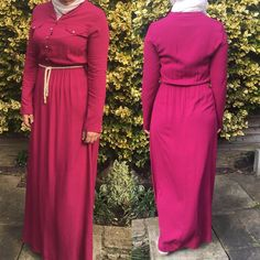 "5 Likes, 1 Comments - Allure.Abayas (@allure_abayas) on Instagram: ""Fuchsia abaya- dress with lovely button details, sleeves can also roll up to create three quarter…"""