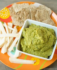 Cilantro Jalapeno Hummus - This tasted gritty to me.  I'll stick to store bought hummus over making this again.