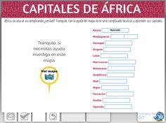 Capitales de África. Actividad realizada con Constructor 2.0.