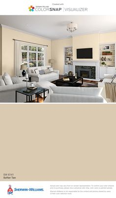 I found this color with ColorSnap® Visualizer for iPhone by Sherwin-Williams: Softer Tan (SW 6141).