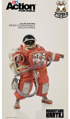 3A ThreeA 1/12 Action Portable Wave 02 - Dead Cosmonaut Golovorez_ Figure_3A305D #ThreeA