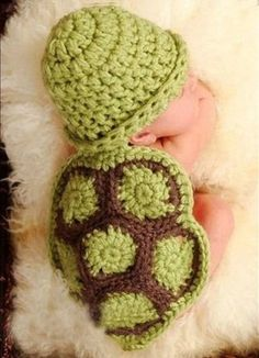 Turtle Crochet Hat and Diaper cover Set by ButterfliesnLadybugs, $22.00