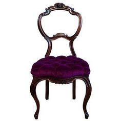 Diego Velazquezes style was a darker, royal tone. This chair shows the royal purple on a darker toned chair.