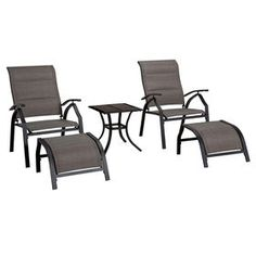 Picture of Malibu 5 Piece Adjustable Sling Chair and Table Set