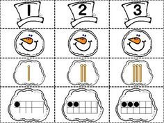 Snowman Number Match Printable is a great addition to your math centers this winter season. This free printable is perfect for preschool, kindergarten, and first grade students. Kindergarten Centers, Kindergarten Classroom, Fun Math, Teaching Math, Math Activities, Preschool Activities, Winter Activities, Maths, Math Games