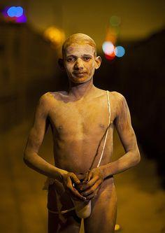 Young Man Becoming A 1Naga Sadhu, Maha Kumbh Mela, Allahabad, India by Eric Lafforgue, via Flickr