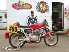 Team rider Dennis Parrish at NOLA Raceway (near New Orleans) at first AHRMA race of 2013.