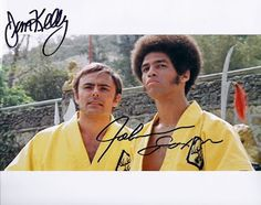 Farewell to Martial Arts Star Jim Kelly - Collector's Treasure of the Day - Enter the Dragon Photo Autographed by Jim Kelly and John Saxon