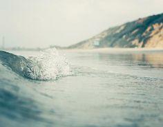 Teal Ocean Waves Sea Gree Beach Decor Water Wave door BreeMadden, $50.00