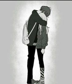 ♥ - A girl falls in love, a boy in love, a love full of mysteries, broken hearts, cla - Cute Couple Drawings, Cute Couple Art, Anime Couples Drawings, Anime Couples Manga, Manga Couple, Anime Love Couple, Sad Anime, Kawaii Anime, Romantic Anime Couples